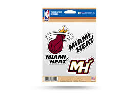 Miami Heat Window Decal Sticker Set Nba Officially Licensed Custom Sticker Shop