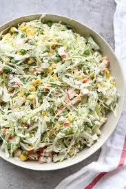 Cabbage Crab Salad - Valentina's Corner