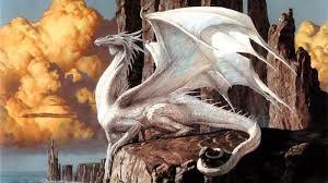 gathering art white dragon wallpaper