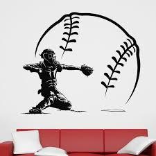 Baseball Sticker Car Decal Sports Posters Home Decoration Vinyl Wall Decals Decor Mural Baseball Wall Decal Wall Stickers Aliexpress
