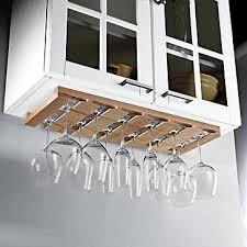 large under cabinet stemware rack