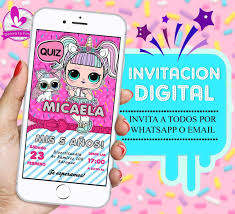 Invitaciones Digitales Lol Tarjetas Infantiles Cumpleanos