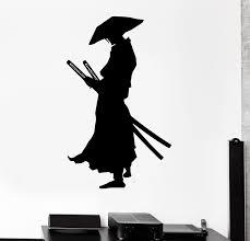 Wall Decal Samurai Warrior Japan Sword Knight Ronin East Vinyl Sticker Wallstickers4you