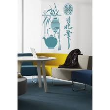 Shop Sushi Bar A Restaurant Tea Wall Art Sticker Decal Blue Overstock 11849406