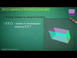 coplanarity of two lines in 3d geometry