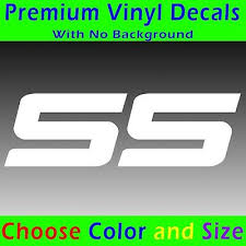 Auto Parts And Vehicles Ss Vinyl Decal Chevy Ss Sticker Racing Super Sport Camaro Chevrolet Style Car Truck Graphics Decals