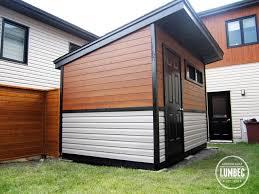 custom modern shed and fence modern