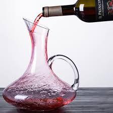 wine decanter hand blown lead free
