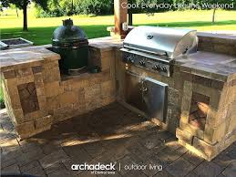 grill and big green egg in this custom