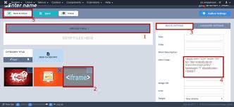 insert html code or joomla iframe