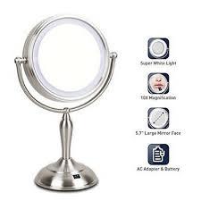 makeup mirror standing lighted