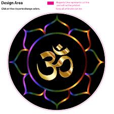 Golden Om Lotus Flower Sticker Om Symbol Art Om Art Om Symbol