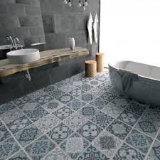 blue grey vinyl floor tiles ensuite