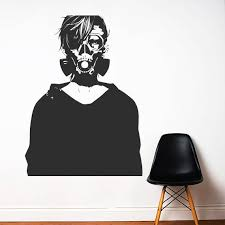 Wall Decal Wall Decal Anime Comics Wall Sticker Vinyl Etsy The Girl With The Dragon Tattoo Wall Decals Anime Comics