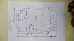 east facing house plan as par vastu sq