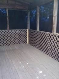 Pin By Patricia Scharf On Diy By Me Porch Lattice Screened In Porch Furniture Mobile Home Porch