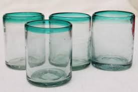 mexican glass drinking glasses
