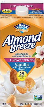 unsweetened vanilla almond cashew milk