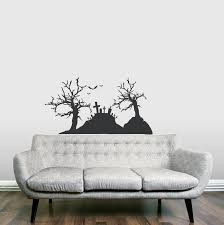 Graveyard Scene Wall Decal Sticker