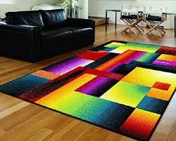 bright multi colored area rug 1438