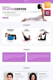 pilates center sports wordpress template