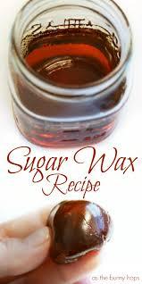 homemade sugar wax recipe as the