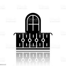 Balcony Drop Shadow Black Glyph Icon Interior Element Vintage Design Apartment Veranda European Terrace With Fence Architecture Building Exterior Part Vector Isolated Illustration Stock Illustration Download Image Now Istock