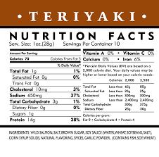 teriyaki sauce nutrition