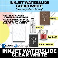 Waterslide Decal Paper Inkjet Clear 10 Sheets