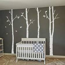 Amazon Com Mairgwall Birch Tree Leaves Wall Decals Removable Art Decor Wall Mural Stickers For Bedroom Living Room White Large Home Kitchen