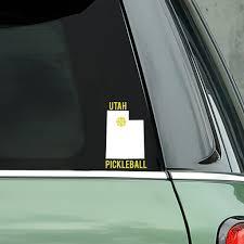 Utah Pickleball Decal Bumper Sticker Pickleball Xtra