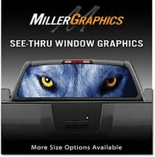 Wolf Eyes Wolves Rear Window Decal Graphic For Truck Suv Ebay