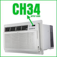 lg air conditioner error code ch34