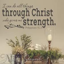 I Can Do All Things Through Christ Philippians 4 13 Niv Wall Decal Stencil Decor Philippians Bible Verse Decals Stencil Decor