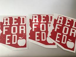 Red For Ed Decal Sticker With 2 Designs Back To School Az Red For Ed Car Decal Azredfored Redfo Bumper Stickers Decals Stickers Car Decals