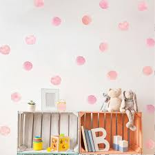 Cute Pink Dots Wall Decals For Girls Room Nursery Decor Peel Stick V Nordicwallart Com