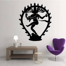The Hindu God Of Destruction Shiva Wall Stickers Home Decor Indian Religion Hinduism Wall Decals Vinyl Living Room Decoration Room Decoration Wall Decalsliving Room Decoration Aliexpress