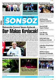 6 ekim 2020 - Malatya Sonsöz Gazetesi