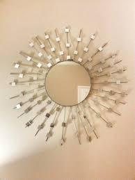 diy sunburst mirror made from wood