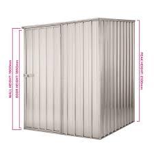 1 5 x 1 5 x 2 1m zinc garden shed
