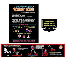 Donkey Kong Arcade Decal Set Escape Pod Online
