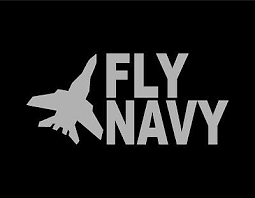 Fly Navy Vinyl Window Decal Silver 4 X9 Us Navy Military Pilot War Veteran Usa Ebay