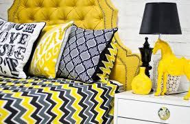 zig zag bedding in yellow gray black i