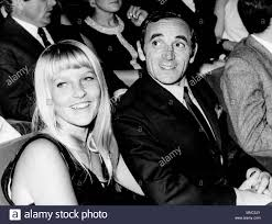 charles aznavour and wife ulla thorsell, 1967 Stock Photo - Alamy