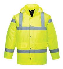 l waterproof polyester hi vis jacket