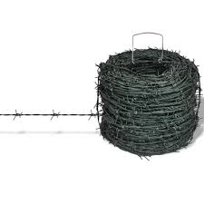 Barbed Wire Entanglement Wire Green Wire Roll 328 Ft Liveditor In 2020 Barbed Wire Fencing For Sale Garden Fencing