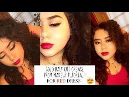 prom makeup tutorial half cut crease