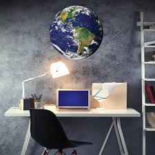 2 Ft Earth From Space Wall Decal Peel Stick Matte Poster Decal