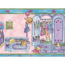 Zoomie Kids Aquila Kids Room With Dolls Dresses Toys Wall Border Wayfair