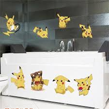 Kids Furniture Decor Storage Dolm Pikachu Nursery Wall Decals Cute Pokemon Wall Stickers For Kids Peel And Stick Wall Decals Waterpoof Removable Art Mural Decor Kids Room Room Decor Wall Decor
